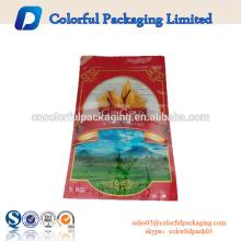 China fabricante personalizado impresso sacos de plástico para 25 KG de embalagem de arroz