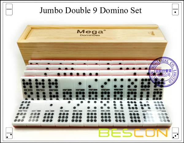 Jumbo Double 9 Domino Set-3
