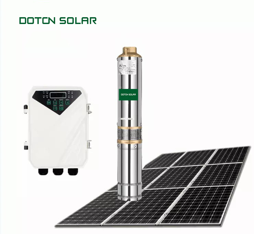 48V DC Brushless Motor Water Screw Pump Solar Water Pump From DOTON