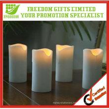 Customized Cylindrical Flameless Wax Led Candle