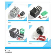 O melhor preço do conector masculino e fêmea do adaptador do Pin do cabo de extensão 6 da tomada elétrica