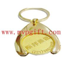 Metal Key Ring with Wsh Bone Trolley Coin M-Tc007)