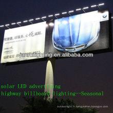 CE professionnel solaire LED éclairage extérieur pour la publicité signe/panneau/route lighting(JR-960)