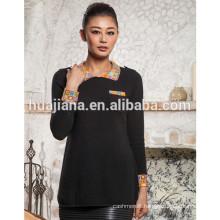 fashion polo neck women's 100% cashmere sweater