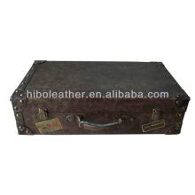 Производство Гуанчжоу старинные искусственного кожаный чемодан