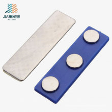 Crachá de nome liga de zinco do metal do retângulo do logotipo feito sob encomenda com Pin magnético