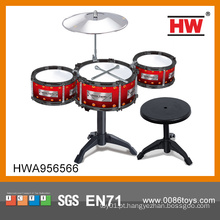Alta qualidade de plástico crianças música brinquedo miniatura tambor set