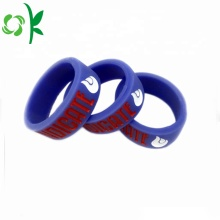 Slap-up Silicone Dings Purple / Black Anillos de compromiso