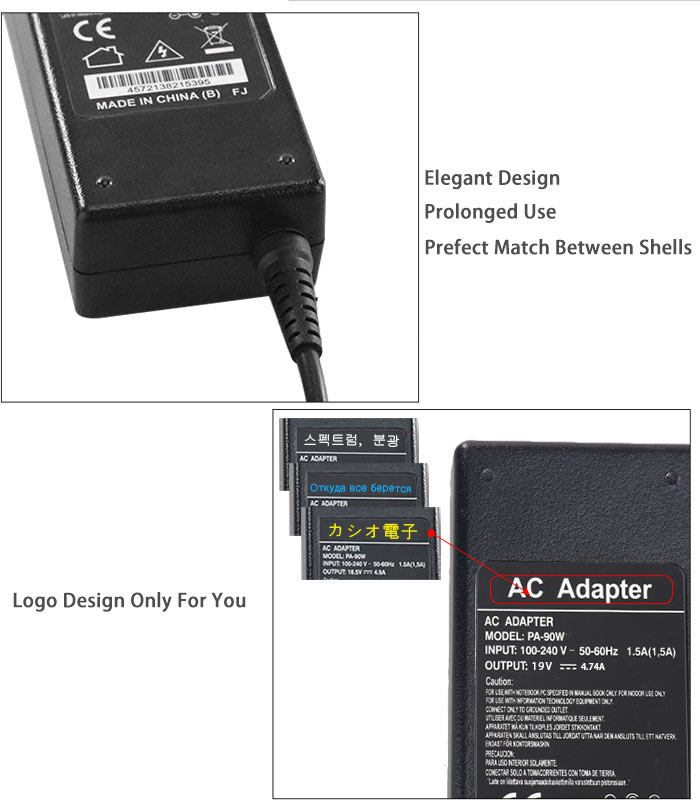 90w ac adapter for hp computer