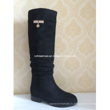 Elegant Fashion Diamonds Sexy Lady Long Rubber Boot