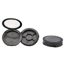 Small Matte Black 6 Color Eyeshadow Container