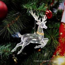 Plástico Glitter hecho en casa adornos de Navidad adornos