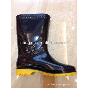 barato pvc durable hombres botas de lluvia media