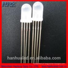 20mA 4 pinos rgb led diodo 5mm 8mm 10mm (lentes de água difusa lente clara)