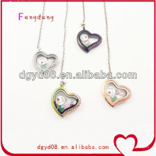 New products 2014 stainless steel jewelry floating charms locket