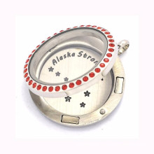 High quality 361L stainless steel floating name plate lockets jewelry