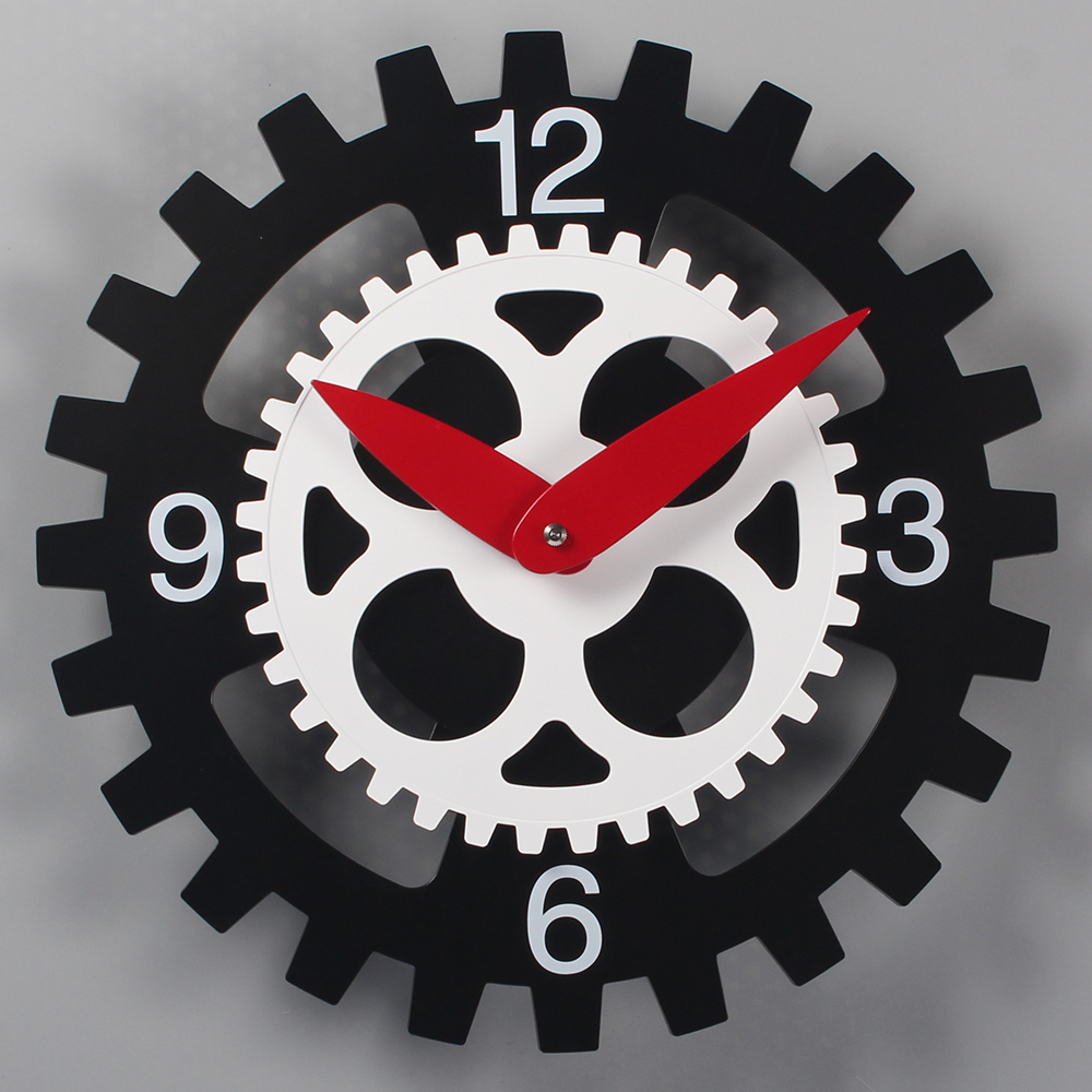 Double Gear Wall Clock