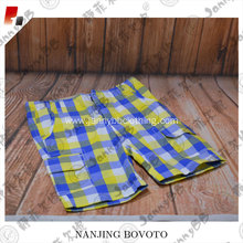 Boys'  woven plaid shorts with pockets