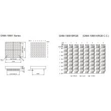 1,9 pulgadas de altura 4,8 mm matriz DOT (GNM-19881Axx-Bxx)