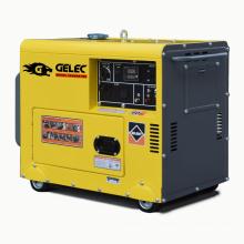 Gerador diesel silencioso portátil a 5KVA refrigerado a ar