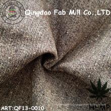 Hemp / fio de algodão orgânico tecido tingido (QF13-0010)