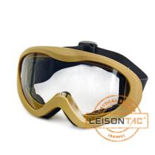 Tactical goggle TPU material anti-UV and anti-fog goggle