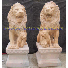 Stone Granite Marble Lion for Garden Sculpture Animal Statue (SY-D039)
