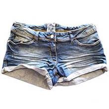 Femme Denim Distressed Denim Noir Short Hotpants