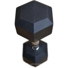 cast iron fitness equipment Rubber Dumbell/rubber hex dumbbel