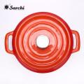 Tostador de hierro fundido esmaltado de Amazon Hotsale con tapa