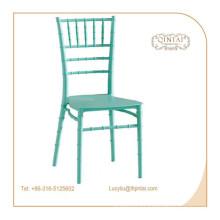 Chivari moderna silla apilable plástico bambú sillas de catering