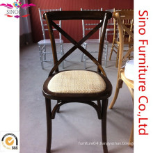 Wooden X cross back chair