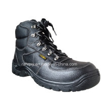 Fur Lining Split Embossed Leather Safety Shoes (HQ05056)