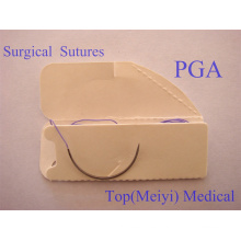Sutura quirúrgica de ácido poliglicólico