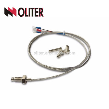 pt100 temperature resistance fixing thread insulated metal sheathed braid shielding cable platinum wire manufacturer rtd sensor
