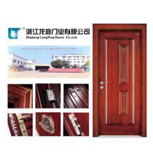 Porte en bois entrée intérieure fabriqué en Chine (LTS-403)