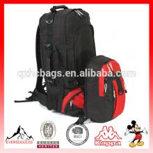 Poliéster de alta qualidade caminhadas mochila para venda anexada mochila