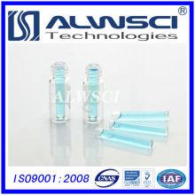 Flacon de 2 ml avec micro insert Flacon de HPLC flacon de verre tubulaire transparent