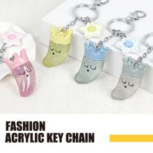 Moon king acrylic fashion key chain