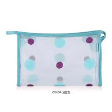 Bolsa de higiene pessoal para cosméticos femininos com pontos impressos em PVC transparente (YKY7533-8)
