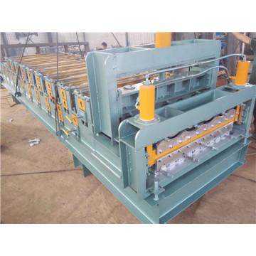 Máquina formadora de rolos de dupla camada para painel de telhado envidraçado