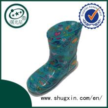 Cristal Linda lluvia Botas zapatos del estudiante impermeable con botas de lluvia de Chilren jalea de venta C-705