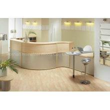 Mesa de recepção médica MFC Oak Curva Moderna (HF-R019)