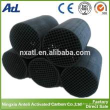 Honeycomb tubo de filtro de carbón activado