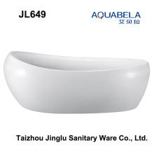 2016 nueva forma de huevo freestanding bañera de hidromasaje bañera (jl649)