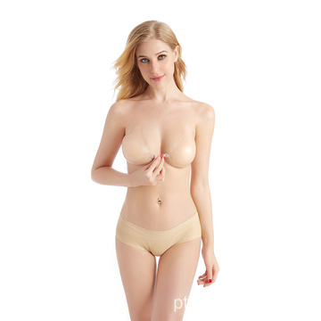 Silicone push up bra levantar a tampa do mamilo