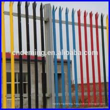 PVC Coated Beautiful House Decorative Palisade Steel Fence