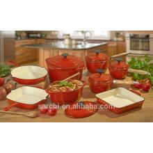 Utensilios de cocina de hierro fundido de esmalte para cocina