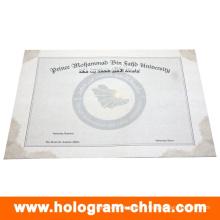 Certificat de filigrane de conception personnalisée de sécurité anti-faux