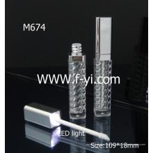 Cuadrado Con Granos Espirales Empty Led Light Lip Gloss Container